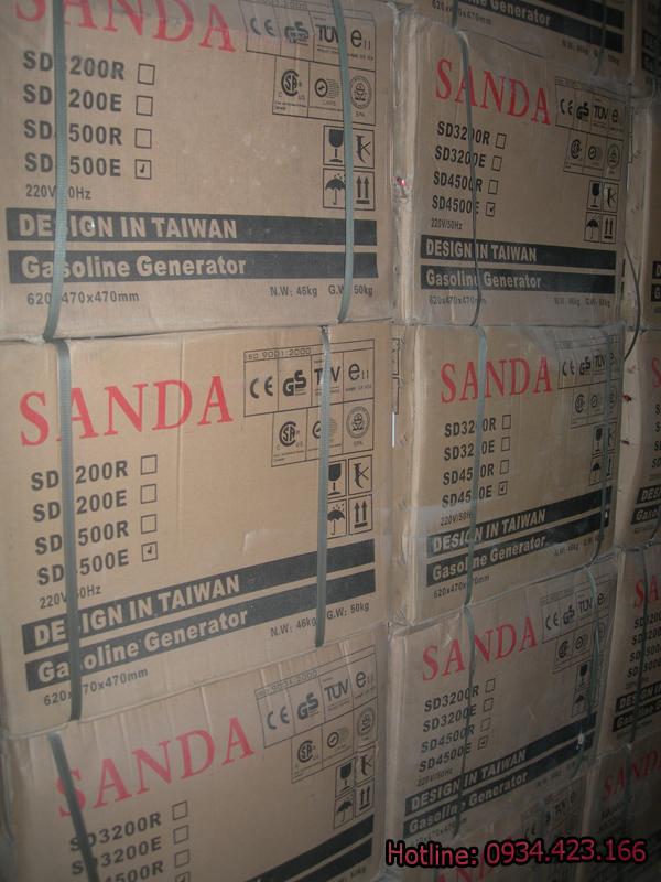 máy phát điện gia đình Sanda sd6500e